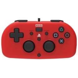 Control PS4 Hori Mini Gamepad PS4-101E - Rojo/Negro (Con Cable)