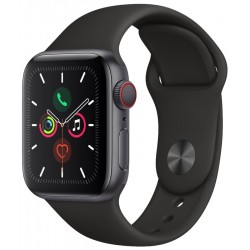 Apple Watch S5 (GPS+Cell) Caja Alumínio Gray 40mm Pulsera Deportiva Negra MWWQ2LL