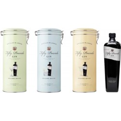 Gin Fifty Pounds London Dry 700mL con  (Estuche de Metal Variados)