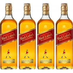 Whisky Johnnie Walker Red Label Esclusivo Pack 4 x 1L