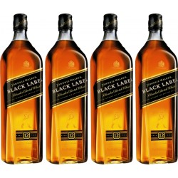 Whisky Johnnie Walker Black Label 12 Years Exclusivo Pack 4 x 1L
