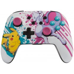 Control Inalambrico para Nintendo Switch PowerA Pokemon - Blanco/Rosa