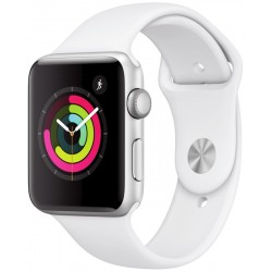 Apple Watch S3 (GPS) Caja Aluminio 42mm Pulsera Deportiva Blanca