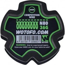 Bobina Wotofo Competition Wire N80 36G (91.44mts)
