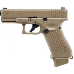 Pistola Airsoft Umarex Glock 19X CO2 6mm BBS Coyote
