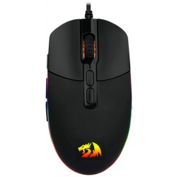 Mouse Gaming Redragon Invader M719-RGB con Cable Negro/Rojo