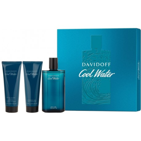 Perfume Davidoff Cool Water 125ml + Shower Gel 75mL + After Shave 75mL