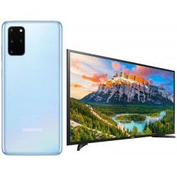 "Promoción Galaxy S20+ 128GB 6.7"" Azul  + Smart TV 40"" 5290A"