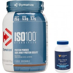 Kit Papá Dymatize Suplemento ISO100 Hydrolyzed + One Daily Men's The Vitamin Shoppe